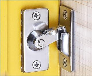 WANLIAN 90 degree flip door lock right angle curved door buckle bolt barn door lock sliding door lock special door lock (2...