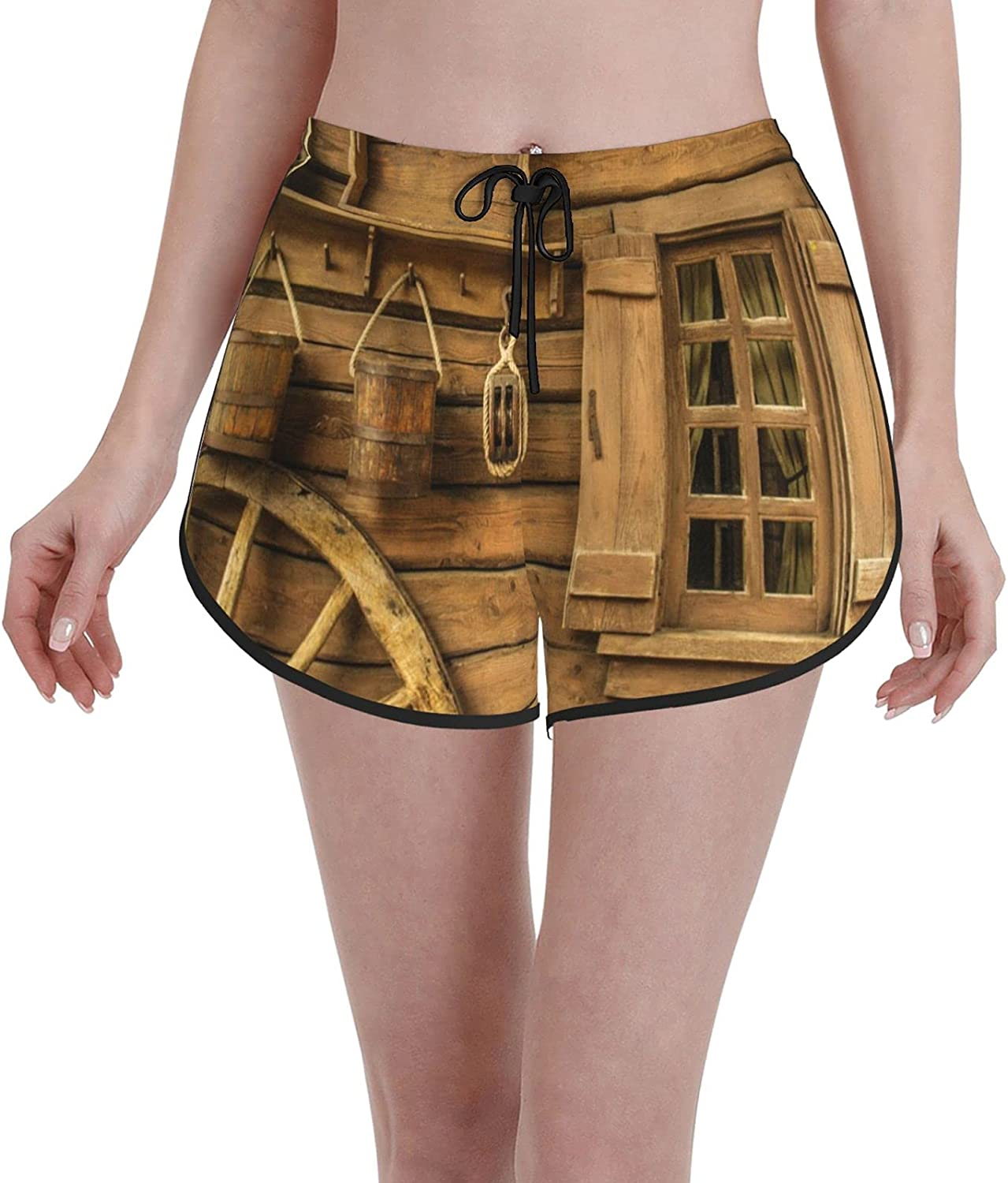 Janrely Casual Board Shorts for 40% OFF Cheap Sale Women Swim Topics on TV Trunks We Girls Beach