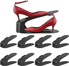 Soporte de Calzado, Organizador de Zapatos, Soporte Ajustable de Zapatos, de PP Durable, Juego de Zapatos para Ahorro de Espacio, Ayudante de Almacenamiento de Zapatos-8PCS