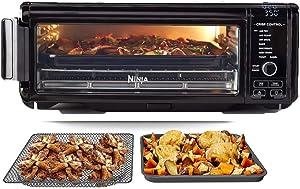 Ninja SP101 Foodi 8-in-1 Air Fry Large Toaster Oven Flip-Away for Storage Dehydrate Keep Warm 1800w XL Capacity- Renewed- (BLACK)