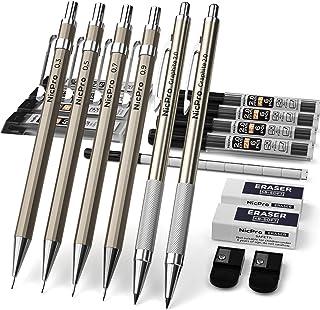 مداد مکانیکی Nicpro 6 PCS Art Set Metal، Drafting Pencil 0.3