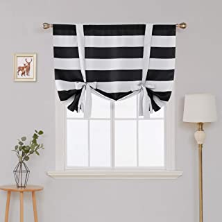 Best black and white striped roman blinds Reviews