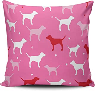 WULIHUA Pillow Covers Love Pink Victoria Secret Zebra Sofa Modern Pillow Case Decorative Throw Pillow Cases Double Sides Printed Square 16x16 Inches