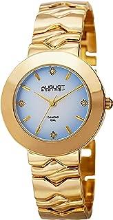 Women's Diamond Watch Silver Bracelet - 4 Genuine Diamond Hour Markers on Stainless Steel Bracelet - AS8157