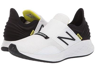 New Balance Kids Fresh Foam Roav (Little Kid) (White/Black/Bleached Lime Glo) Boys Shoes
