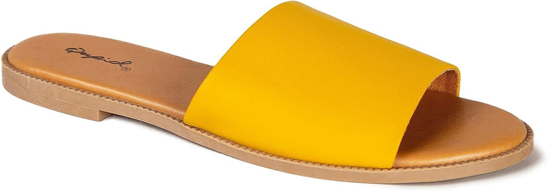 Qupid Desmond Slides for Women   Single Band Slide Sandals for Women