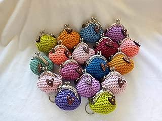 Lote de 5 Elegantes Monederos Multicolores Hechos a Crochet ...