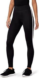 Amazon Brand - AURIQUE Women's Side Stripe 7/8 Sports Leggings