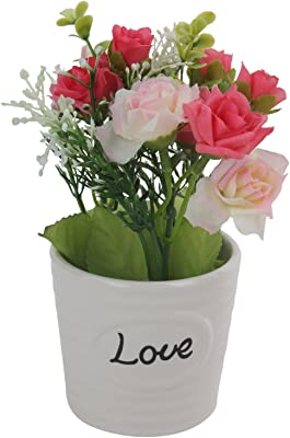Love Engraved Artificial Flowers