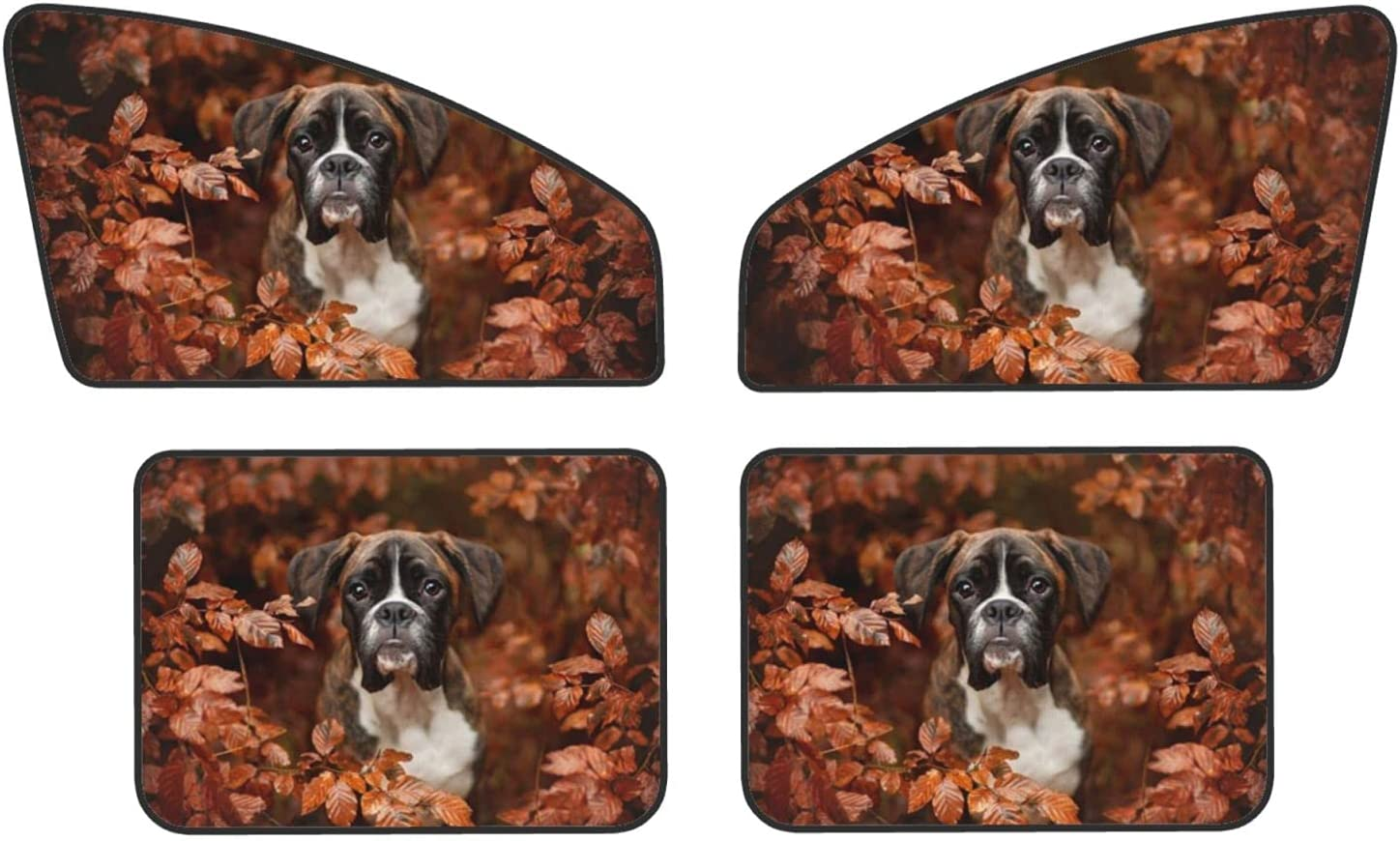 Boxer Dogs Autumn Car Magnets OFFicial site R Covers Protect Quantity limited Sunshades Privacy