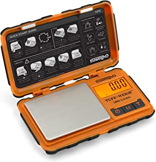 TruWeigh TUFF-Weigh Digital Mini Pocket Scale 100g x 0.01g Orange and Black
