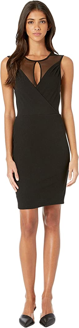 Faux Wrap Cut Out Dress