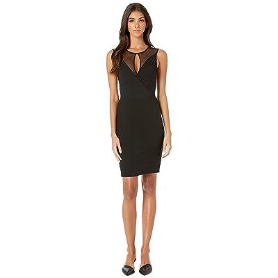 BCBGeneration Faux Wrap Cut Out Dress (Black) Women