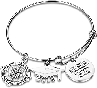 2019 Graduation Gift Keychains-Go Confidently in The Direction of Your Dreams Live The Life You Have Imagined