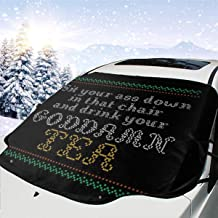 ENXIANGXIJ Drink Your Goddamn Tea Final Fantasy VII Car Windshield Snow Cover, Ice Removal Sun Shade, Fit for Universal Cars (58'' X47'')