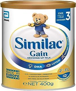 Abbott Similac Gain 2'-FL: Growing Up Milk Powder for Kids Stage 3 (1 year +) 400g