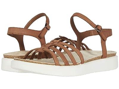 ECCO Corksphere Ankle Strap Sandal (Mahogany Cow Nubuck) Women