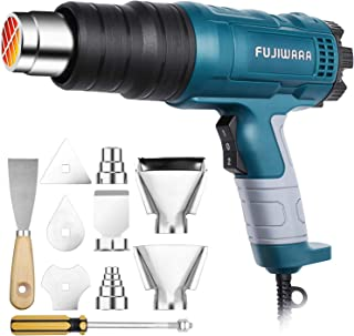 Heat Gun Kit 2000W with Dual-Temperature 5 Nozzles,Hot Air Gun 122ᵒF-1022ᵒF Heating in Seconds for DIY Shrink PVC Tubing/Wrapping/Crafts,Stripping Paint (2000W 2 Gears Temp Setting)