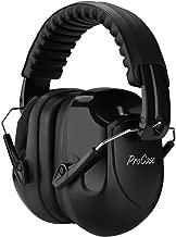ProCase Orejera Antiruido, Protector Auditivo SNR 34 dB Cancelación de Ruido Profesional, Casco Insonorizado Protector de Oído para Campo de Disparo y Temporada de Caza -Negro