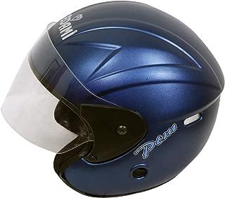 BEDAMI Matt Black Open Face with Visor Helmet (Blue)-OROR_PV_1415006
