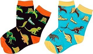 Dinosaur World Toddler Boys Crazy Socks - Silly Funny Novelty Dress Socks For Little Kids