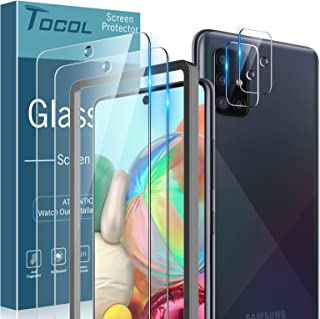 TOCOL [3Pack] for Samsung Galaxy A71 Screen Protector Tempered Glass HD Clarity Touch Accurate [9H Hardness] Easy Installa...