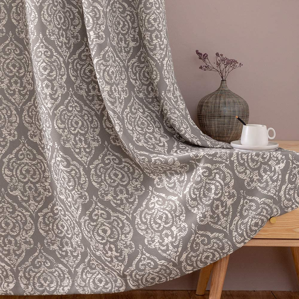 jinchan Cheap mail order shopping Blackout Curtains Damask Design Room Dini Pattern Living OFFer
