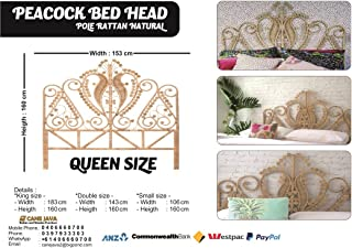 Peacock Bed Head | Queen Size | Natural Color