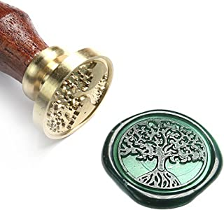 UNIQOOO Arts & Crafts Tree of Life Sealing Wax Seal Stamp - Great for Embellishment of Envelopes, Invitations, Wine Packages, Valentine's Day Gift Ideas for Friends, Relatives, Artistic Type