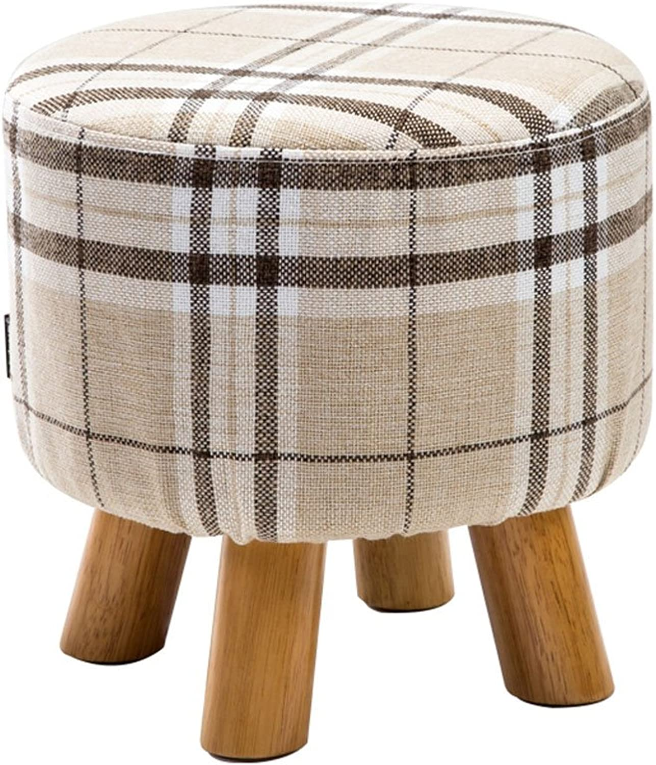 CQOZ Stool Changing his shoes Stool Low Stool Solid Wood Footstool Small Bench Sofa Stool Round Stool Fashion Creative Sofa Stool (color    1, Size   Large)