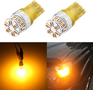 Alla Lighting Xtreme Super Bright 168 194 LED Lights Bulbs Amber Yellow T10 Wedge 3014 18-SMD 12V Car Interior Map Dome Ma...