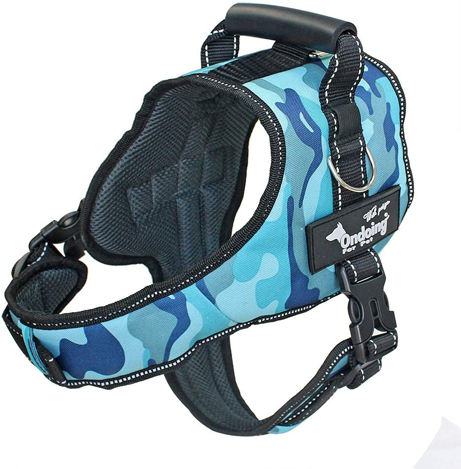 Pet Chest Strap with Dog Strap Leash Vest Style Dog Leash Dog Chain Saddle Shape Prevents Violence from Rushing Out,blueeCamouflage,M