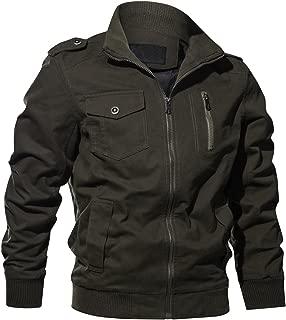 Men's Cotton Military Jacket Casual Outdoor Windbreaker Coat