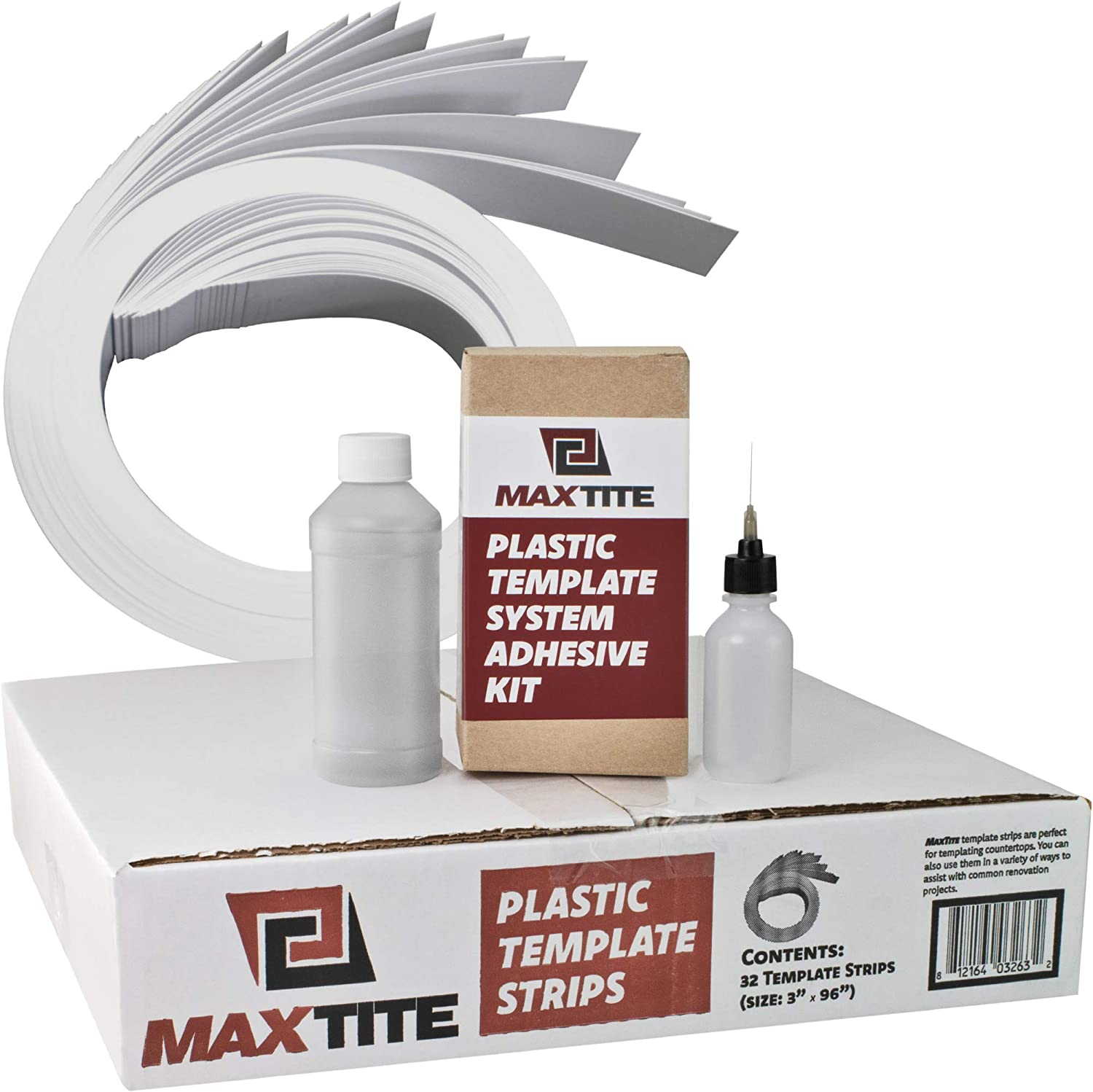 Plastic Template System 32 Strips with Glue Baltimore Mall and Appli excellence Adhesive