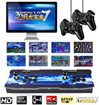 TAPDRA 2650 Classic Arcade Game Console Machine, 4 Players Pandoras Box 7 with 1280x720 Full HD Video Game Console with Joystick Support HDMI VGA Output