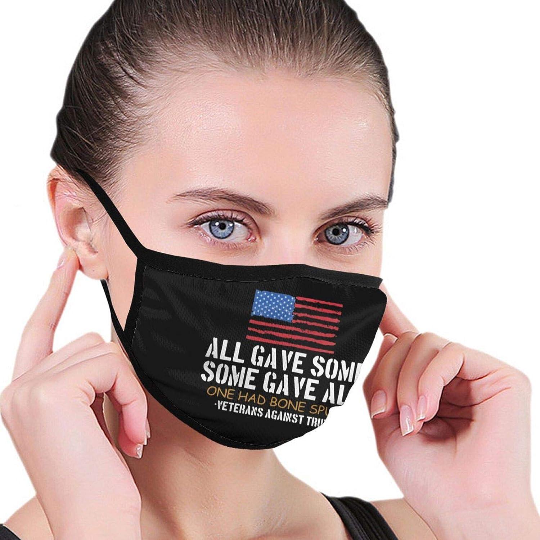 Anti Trump Veterans Against Cadet Bone Spurs Draft Dodger Fashion Washable Breathable Reusable for Women Face Balaclava Mask Black