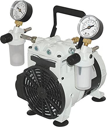 Welch Vacuum 2546B-01 Standard Duty Pump, 1-Head, 46 LPM,