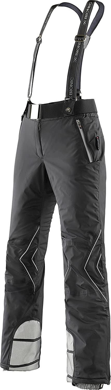 (16, Black   Silver)  XBionic Xitanit Evo Women's Ski Trousers UPD OW Long Pants, Womens, XBIONIC SKI LADY XITANIT EVO UPD OW PANTS LONG