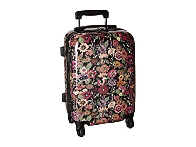 Sakroots Artist Circle Hard Sided 21 Spinner Suitcase (Graphite in Bloom) Luggage