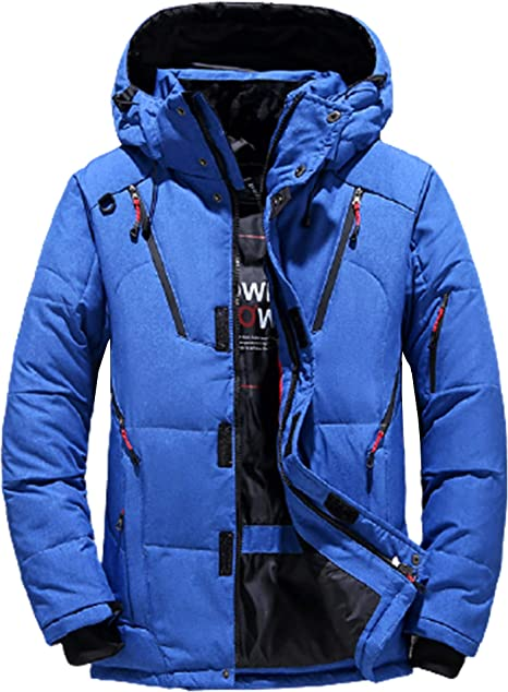 Lhlxs Duck Down Jacket Men Short Warm Thick Quality Zipper Hooded Down Coats Male Overcoat Jackets Winter Men Down Jacket