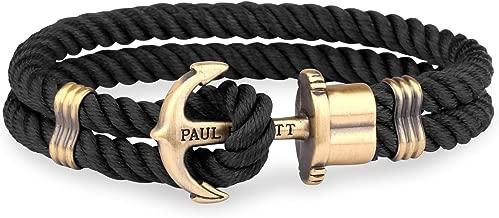 PAUL HEWITT Anchor Bracelet for Men PHREP - Anchor Men's Bracelet Nylon (Black), Sailcloth Bracelets for Men with Anchor Jewelry Made of Brass