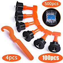 Premium Tile Leveling System Kit with 100pcs Tile Leveler Spacers, 4 Special Wrenches and..