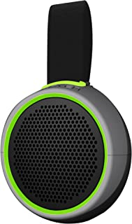 Braven 105 Wireless Portable Bluetooth Speaker [Waterproof][Outdoor][8 Hour Playtime] with Action Mount/Stand - Silver/Green