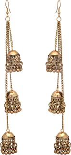 Jwellmart Afghani Bohemian Kashmiri Style Oxidized Drop Dangle Indian Earrings for Women and Girls