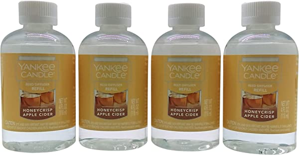 Yankee Candle Honeycrisp Apple Cider Reed Diffuser Refill Oil 4 Pack