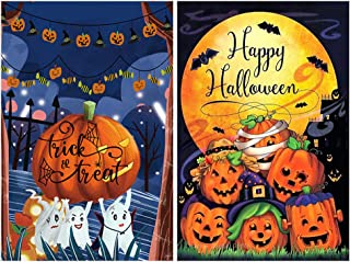 CandyHome 2 Pack Halloween Garden Flags 12.5 x 18 Double Sided Happy Halloween Flag, Trick or Treat Sign, Decorative Pumpk...