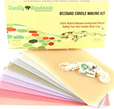 Make Your Own Beeswax Candle Kit - Includes 10 Pastel Colored Full Size 100% Beeswax Honeycomb Sheets and Approx. 6 Yards ...