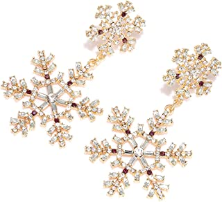 Christmas Earrings Statement Christmas Tree Christmas Balloon Light Bulb Snowflake Earrings Xmas Festive Shiny Rhinestone ...