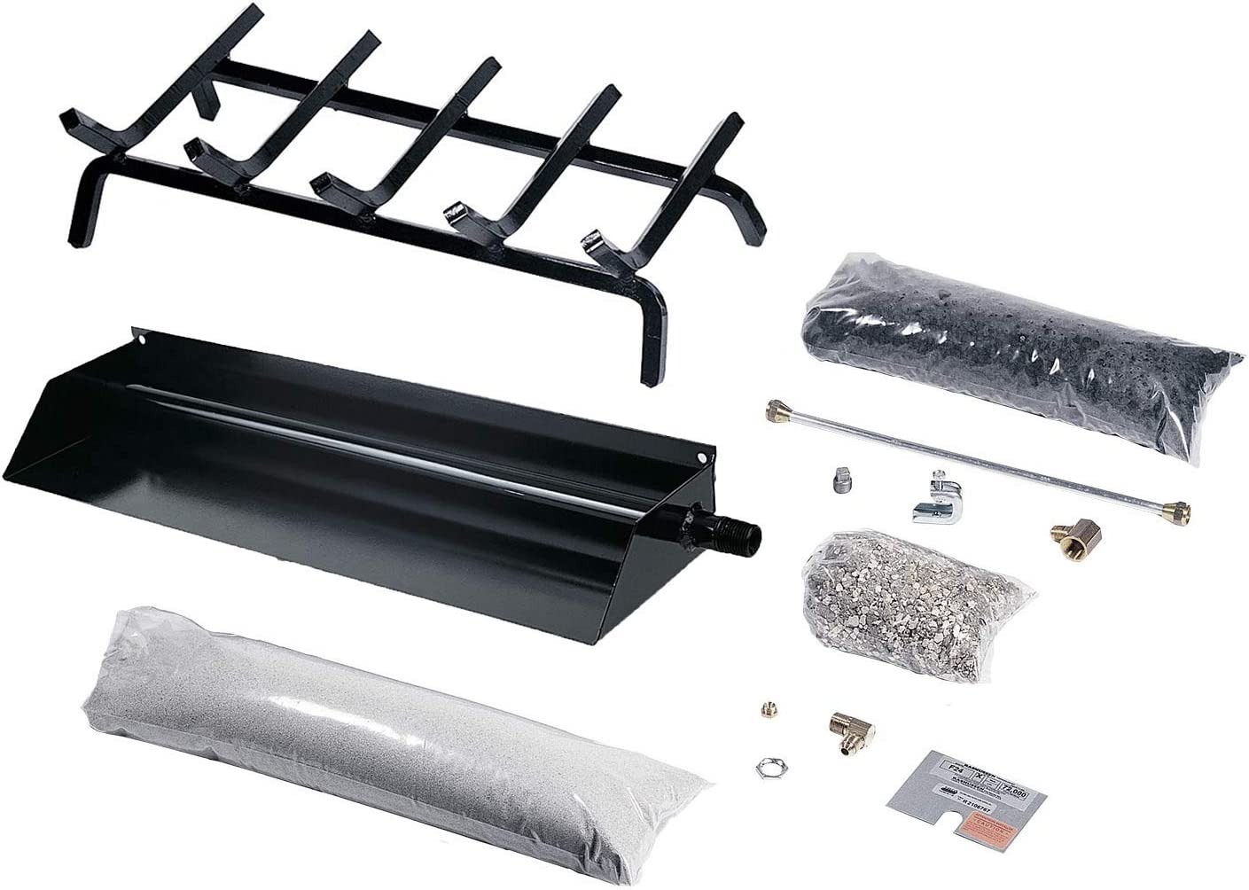 Rasmussen Flaming Ember Burner and B15FH-N sold out Kit Bombing free shipping Natural Grate
