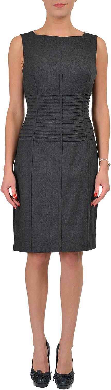 Gianfranco Ferre Wool Gray Sleeveless Women's Sheath Dress US L IT 44